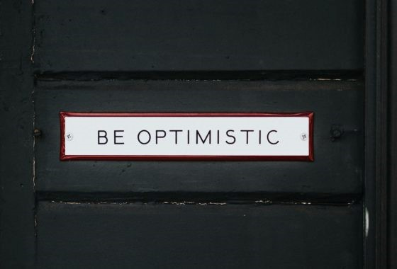 Be Optimistic Sign On A Door