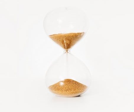 Image of hourglass to represent time management