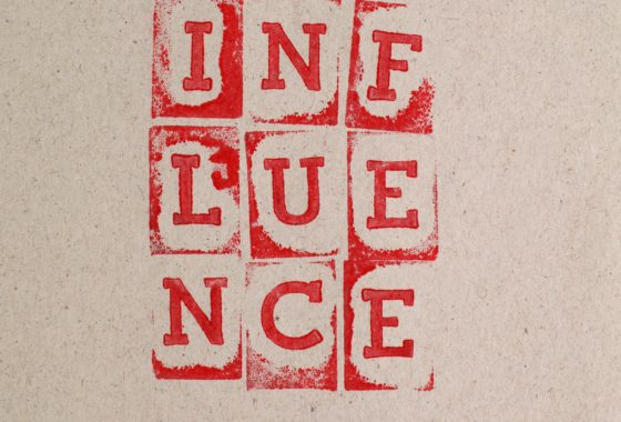 Text saying Influence